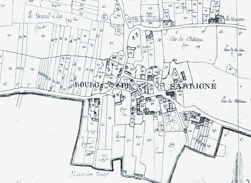 Plan Sarrigné 1789