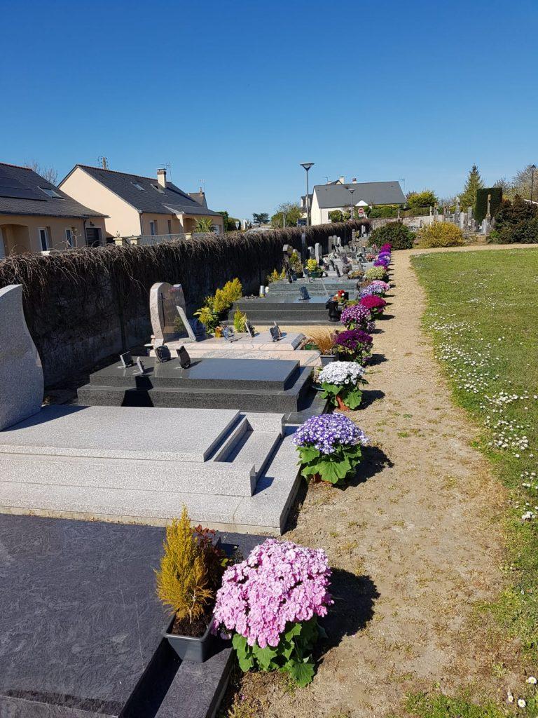 fleurissement cimetière